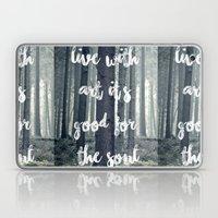 live with art Laptop & iPad Skin