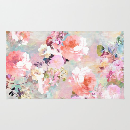 Girly Rugs For Bedroom: Love Of A Flower Rug By Girly Trend