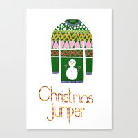 Christmas Jumper Canvas Print