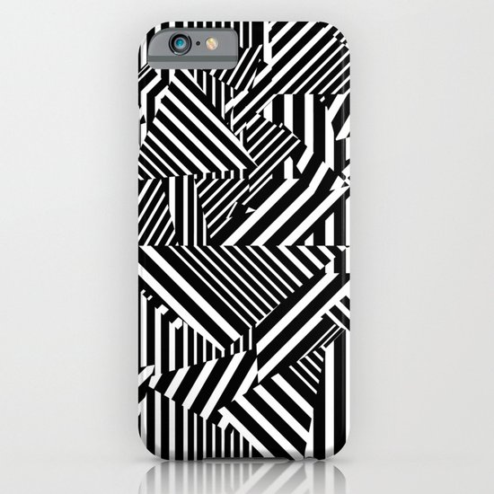 Dazzle Camo #01 - Black & White iPhone & iPod Case