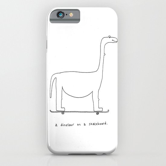 a dinosaur on a skateboard. iPhone & iPod Case