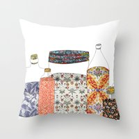 bottled happiness Throw Pillow