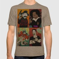 Pop mix of the some of the greats pop culture memories.  Mens Fitted Tee Tri-Coffee SMALL