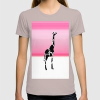 Giraffe  Womens Fitted Tee Cinder SMALL