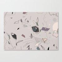serious cat Canvas Print