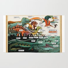 BEHOLD! THE DINOSAURS!  Rug