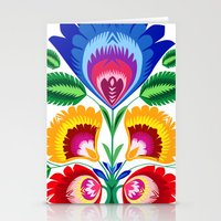folk flower Stationery Cards