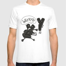 whyyy?! Mens Fitted Tee SMALL White