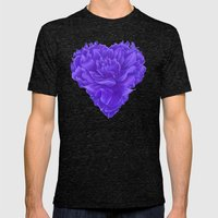 Flower Heart Mens Fitted Tee Tri-Black SMALL