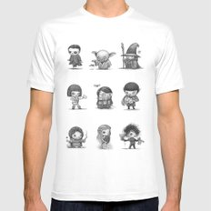 Famous Characters White Mens Fitted Tee SMALL