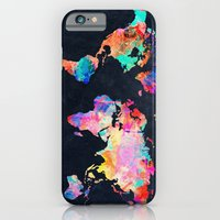 iPhone Cases featuring World map by Bekim ART