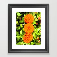 Pop Art Flowers Framed Art Print
