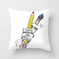 Creativity Takes Courage Throw Pillow