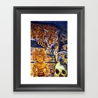 The Old Jaguar Gazed Gre… Framed Art Print