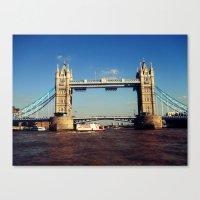 Canvas Print featuring Tower Bridge by SmallIslandInTheSun