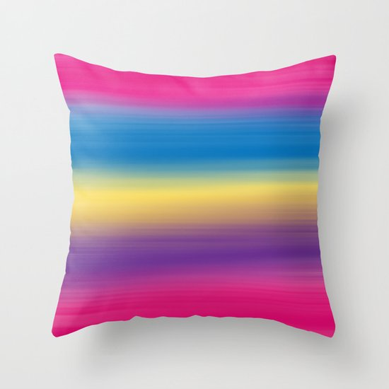 Color Winds Throw Pillow