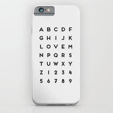 Letter Love - White Slim Case iPhone 6s