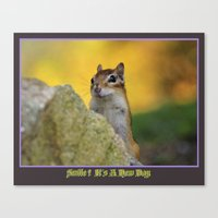 Smile Its A New Day Canvas Print