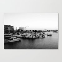 Boat Harbor. Mandurah, Western Australia Canvas Print