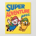 Super Adventure Bros Canvas Print