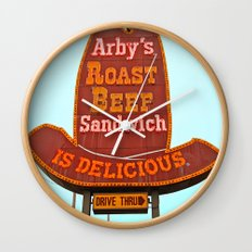 Classic Arby's sign Wall Clock