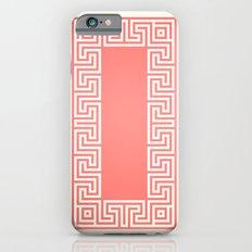 Greek Key coral iPhone 6s Slim Case