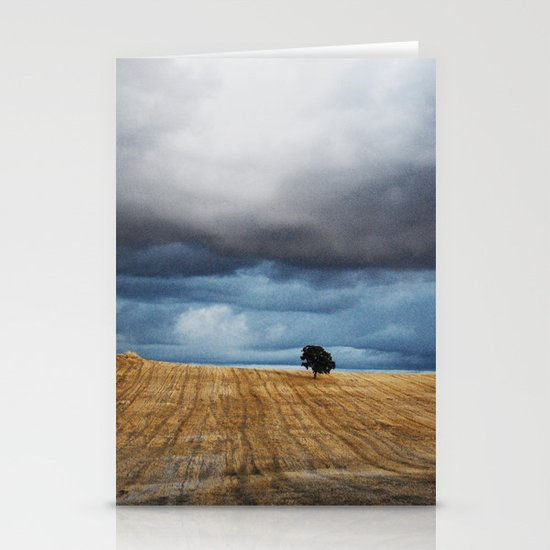 Lonely tree waiting for the storm Stationery Card