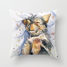 sleeping felix Throw Pillow