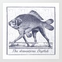 IF FISHES HAD LEGS (navy) Art Print