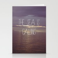 The Sea Is Calling Stationery Cards