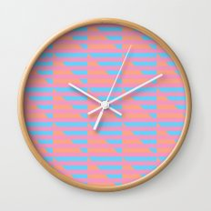Pink Blue Peach Houndstooth /// www.pencilmeinstationery.com Wall Clock