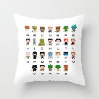 Star Wars Alphabet Throw Pillow