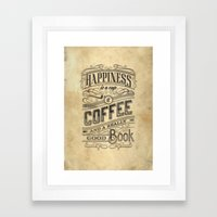 Coffee - Typography v2 Framed Art Print
