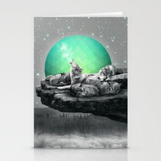 Echoes of a Lullaby / Geometric Moon Stationery Cards