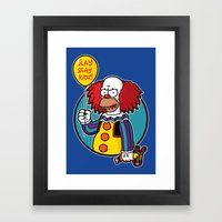 Krustywise the Clown Framed Art Print