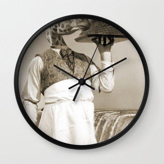 giraffe waiter  Wall Clock