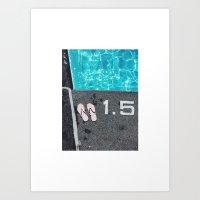 Let's Go Swimming Art Print