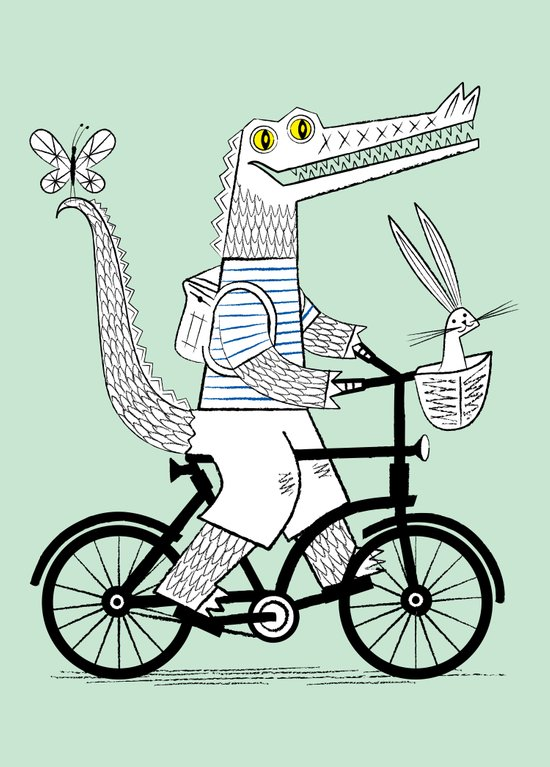 The Crococycle Art Print