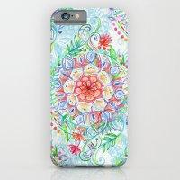 Messy Boho Floral In Rai… iPhone 6 Slim Case
