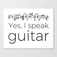 Do you speak guitar? Canvas Print