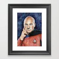 Captain Picard Framed Art Print