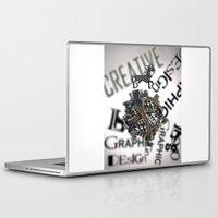 pixel Laptop & iPad Skins featuring Pixel by VERTIgO