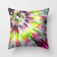 Kiwi Tie Dye Watercolor Throw Pillow