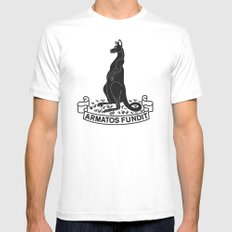 Kangaroos Mens Fitted Tee White SMALL