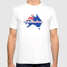 made in australia Mens Fitted Tee White SMALL