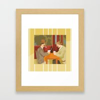 Card players by Cezanne Framed Art Print