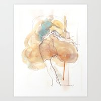 Cloud Mouth: Teal And Su… Art Print