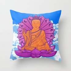 Peace Buddha in the Sky Throw Pillow