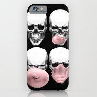 Skulls chewing bubblegum iPhone 6 Slim Case