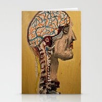 Human Brain  Stationery Cards